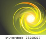 Abstract spiral-styled yellow background - stock photo