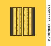 gate icon | Shutterstock .eps vector #392610016