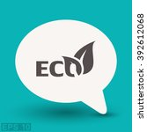 pictograph of eco | Shutterstock .eps vector #392612068