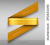 modern business origami style... | Shutterstock .eps vector #392631640