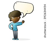 cartoon woman waving with... | Shutterstock .eps vector #392634454