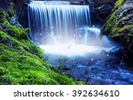 magic river scenery with... | Shutterstock . vector #392634610