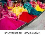 color powder on the indian... | Shutterstock . vector #392636524