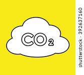 c02  carbon dioxide cloud... | Shutterstock .eps vector #392637160