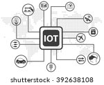 iot  internet of things ... | Shutterstock .eps vector #392638108