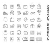 vector thin line icons set for... | Shutterstock .eps vector #392638309