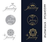 jewelry logo  ring  crown ... | Shutterstock .eps vector #392645599