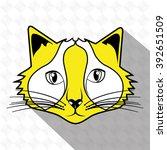 cute cat design  | Shutterstock .eps vector #392651509