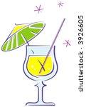 cocktail illustration  vector  | Shutterstock .eps vector #3926605