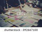 swot analysis business strategy ...   Shutterstock . vector #392667100