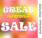 summer sale design template... | Shutterstock .eps vector #392675230