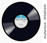 gramophone blue label vinyl lp... | Shutterstock .eps vector #392681644