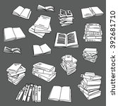 book drawing doodle icon... | Shutterstock .eps vector #392681710