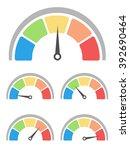 rating meter   speedometer...   Shutterstock .eps vector #392690464