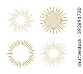 retro gold sun burst shapes.... | Shutterstock .eps vector #392691730