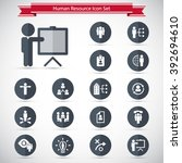 human resource icon set. | Shutterstock .eps vector #392694610