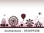 the amusement park  | Shutterstock .eps vector #392699338