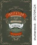 vintage invitation poster... | Shutterstock .eps vector #392709124