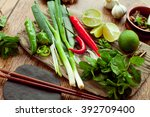 vietnamese food ingredient... | Shutterstock . vector #392709400