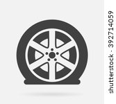 flat tire icon | Shutterstock .eps vector #392714059