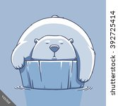 funny cartoon cute bear... | Shutterstock .eps vector #392725414