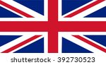 flag on united kingdom | Shutterstock .eps vector #392730523