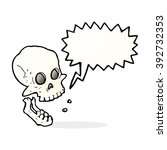 cartoon laughing skull with... | Shutterstock .eps vector #392732353