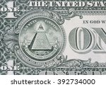 all seeing eye on the dollar  | Shutterstock . vector #392734000