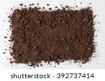 Dark Soil Isolated On White...