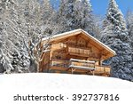 traditional alpine cabin in the ...   Shutterstock . vector #392737816