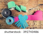 special physio tape rolling   Shutterstock . vector #392743486