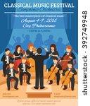 classical music festival flat... | Shutterstock .eps vector #392749948