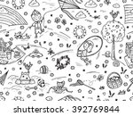 children outdoor activities.... | Shutterstock .eps vector #392769844