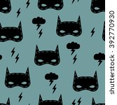 seamless kids pattern with... | Shutterstock .eps vector #392770930