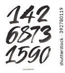 vector set of calligraphic... | Shutterstock .eps vector #392780119