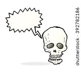 cartoon skull with speech bubble | Shutterstock .eps vector #392782186