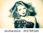 portrait of a beautiful... | Shutterstock . vector #392789260