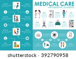 medical care concept hospital... | Shutterstock .eps vector #392790958