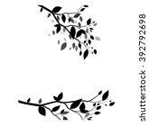 beautiful art tree silhouette... | Shutterstock .eps vector #392792698