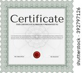 classic certificate template.... | Shutterstock .eps vector #392797126