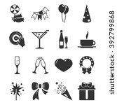 party time icons set and...   Shutterstock .eps vector #392799868