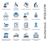 health protection icons   blue... | Shutterstock .eps vector #392812198
