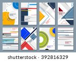 abstract backgrounds set.... | Shutterstock .eps vector #392816329