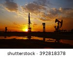 oil pump  oil industry equipment | Shutterstock . vector #392818378