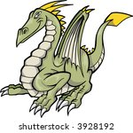 green dragon vector illustration | Shutterstock .eps vector #3928192