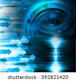 dark blue color light abstract... | Shutterstock . vector #392821420