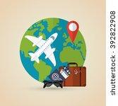 travel icon design | Shutterstock .eps vector #392822908