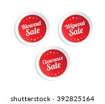 blowout  wipeout   clearance... | Shutterstock .eps vector #392825164