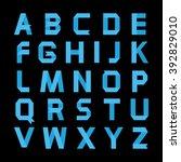 alphabet vector .paper blue...   Shutterstock .eps vector #392829010