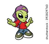 Cartoon Hip Hop Alien
